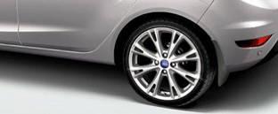 Брызговики Ford Fiesta hb (08-15) / оригинальные задние, кт. 2 шт
