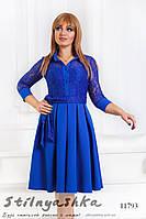 Романтичное платье для полных индиго, фото 1