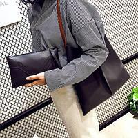 Набор сумок Messenger Bag 2в1 сумка + клатч черный