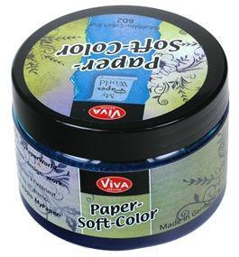 Краска для тонировки бумаги VIVA Paper-soft-color 75мл Кобальтовый VV-119060238