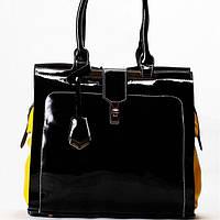 Женская сумка Velina Fabbiano черная с желтыми вставками