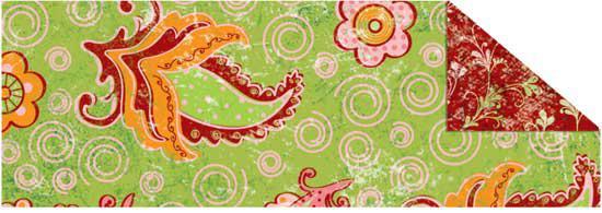 Картон двухсторонний URSUS 20*30 300г Зеленый Мотив Огурцы UR-12292201R