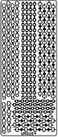 Наклейка скрапбукинг URSUS 10*23см Орнамент с червами и бубнами, Золото UR-5910 00 39