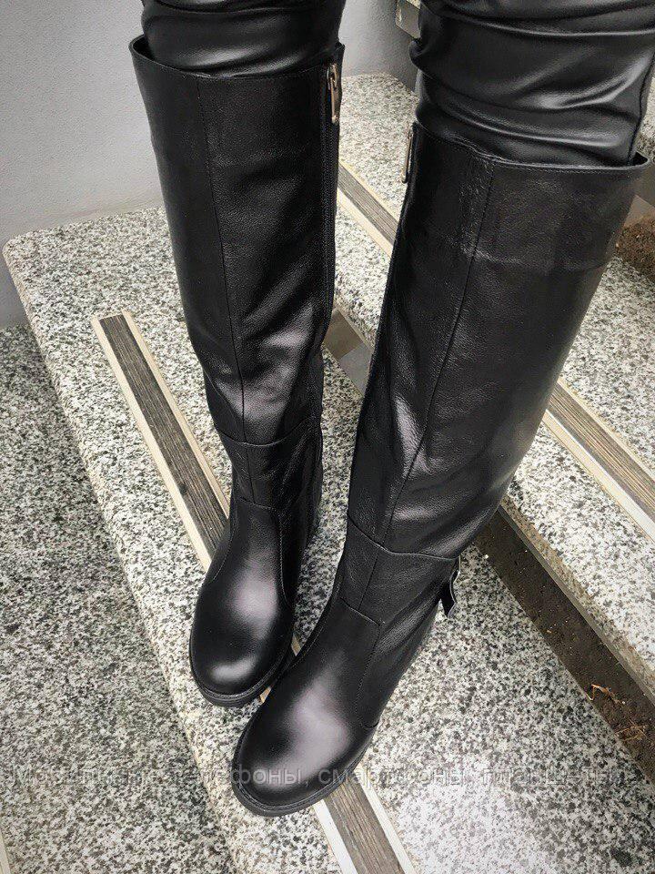 7f100f621140 Женские сапоги кожаные черные, еврозима, размер 36-40 - Мобильные телефоны,  смартфоны