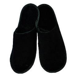 Тапочки для дома и офиса закрытые с антискользящей подошвой (цвет черные)