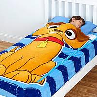 Детский плед-покрывало на кровать на молнии 3-в-1 Zippy Sack (Щенок)