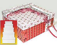 Набор подарочных коробок URSUS 5шт квадрат, от 25*25*11,5см до 15*15*6см UR-17720099