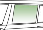 Автомобильное стекло задней двери опускное левое SKODA SUPERB 2002-  зеленое 7809LGNS4RD