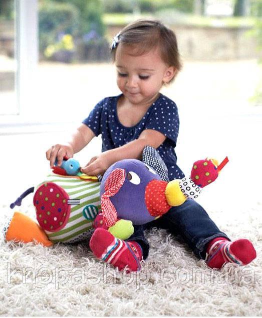 Слоник многофункциональная игрушка с птичкой дрожалкой