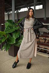 Платье с поясом из меланжевой ангоры + (5 цветов)