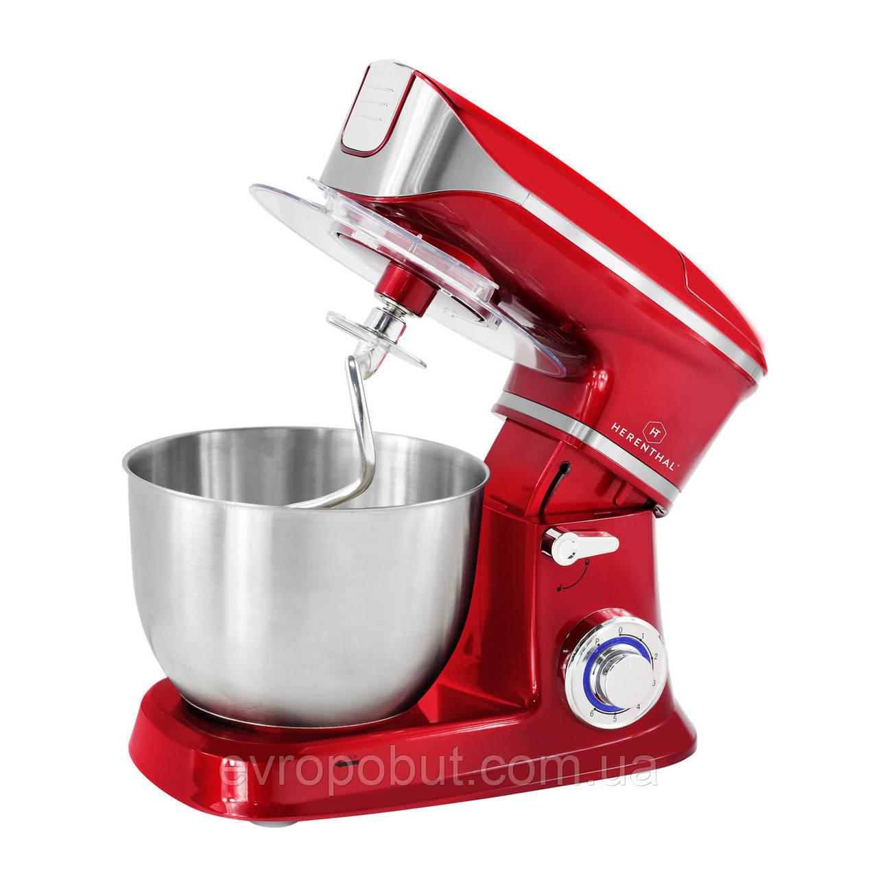 Кухонный комбайн тестомес Herenthal HT-PKM1900,7 RED