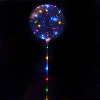 Воздушный шар BoBo с не мигающей светодиодной нитью прозрачный