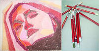 Карандаш пастельный DERWENT Pastel Pencils мягкий, для проф. P660 Темно-коричневый D-2300295