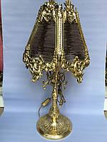 Бронзовая настольная лампа, фото 1