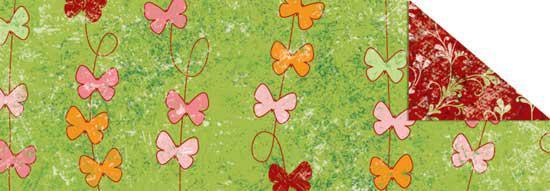 Калька URSUS А4 Парадис 115г Бабочки Зеленый UR-77284605R