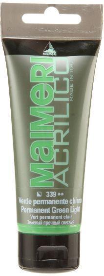 Краска акриловая Maimeri ACRILICO 75мл Зеленый светлый прочный М0916339