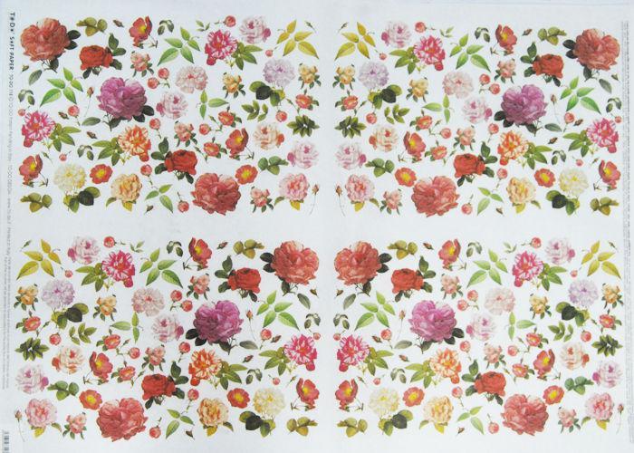 Декупажная карта-бумага 50*70см 98744 Маленькие розы