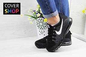 Кроссовки женские Nike Air Max 2017, материал - текстиль, черно-белые 36