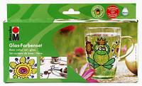 Краски витражные на водной основе MARABU Glas Набор 4цв. по 15мл 13060087