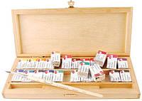 Краски акварельные ЗХК Невская Палитра Белые Ночи набор 24цв. в кюветах деревянная коробка