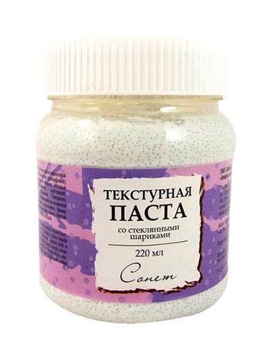 Паста текстурная ЗХК Невская Палитра Сонет со стеклянными шариками 220мл 5523954