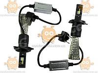 LED лампы головного света лампа LED H4 F7 12v 6000k 2500L CHIP OSRAM косичка