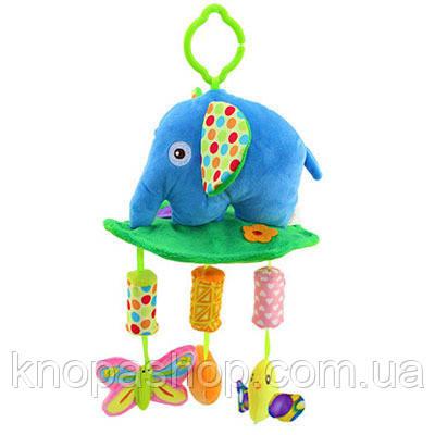 Слон. Игрушки с музыкой ветра,колокольчики. Подвески с погремушками Happy monkey
