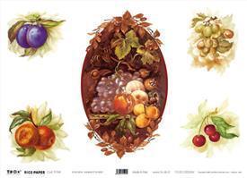Декупажная карта-бумага рисовая 35*50 91945 Натюрморт:фрукты