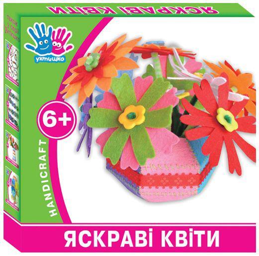 Набор для творчества Ухтишко Яркие цветы 950817