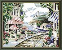 Картина раскраска по номерам на холсте 40*50см Идейка MG112 Французская ривьера