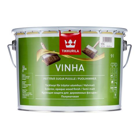 Полуматовая защитная краска для древесины Винха (Vinha), Tikkurila, VVA, 9л