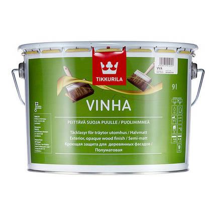 Полуматовая защитная краска для древесины Винха (Vinha), Tikkurila, VVA, 9л, фото 2