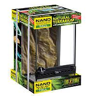 Террариум стеклянный 20х20х30 Nano с фоном
