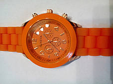 Наручные часы Geneva оранжевые, фото 2