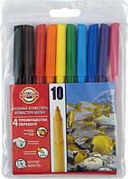 Фломастеры 10 цветов KOH-I-NOOR 7710 ET10 блистер