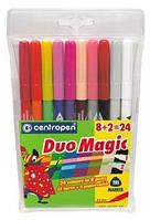 Фломастеры 10цветов CENTROPEN 2599/10 DuoMagic