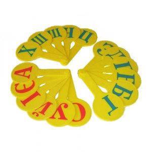 Веер Пластиковые буквы Алфавит украинский А-Я (3шт) АТЛАС 5374/7374