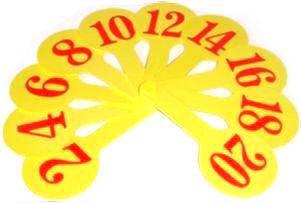 Веер пластиковый цифровой Числа 1-20 (1шт) АТЛАС К7371/5371