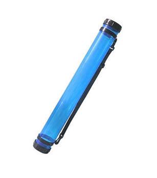 Тубус пластик d 8,3см дл. 65см D.K. ART-CRAFT прозрачный Синий 11319