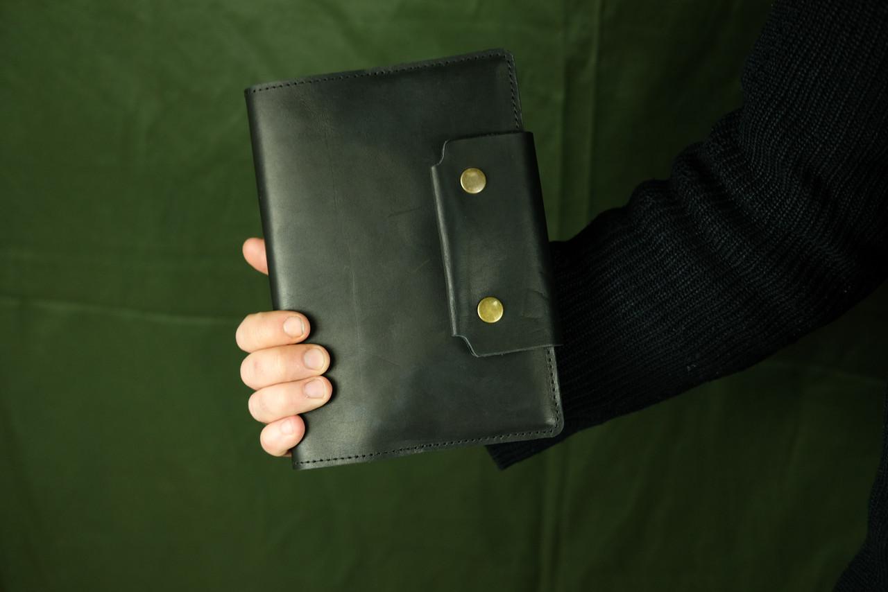 Обложка для ежедневника А5 с прошивкой |105112| Италия | Черный