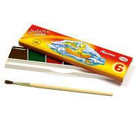 Краски акварельные медовые 6 цв. ГАММА Мультики карт кор, без кисти 211046