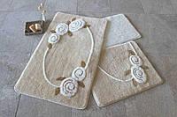 Набор ковриков, коврик в ванную, ALESSIA набор 3 предмета