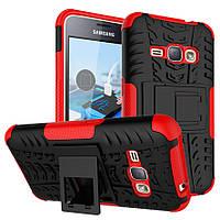 Чехол Armor для Samsung J1 / J100 противоударный бампер красный