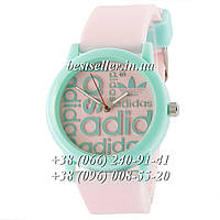 Часы Adidas Silicone 42mm Pink/Green. Реплика