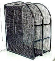 Лоток для бумаги вертикальный сетка металл вертикальный 2 отд. JLD3001B_Черный