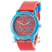 Часы Adidas Silicone 42mm Blue/Red. Реплика