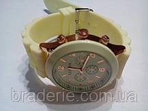 Наручные часы Geneva бежевые, фото 3