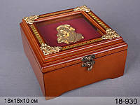 Шкатулка деревянная Lefard 18х18х10 см, 18-930