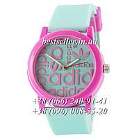 Часы Adidas Silicone 42mm Green/Pink.