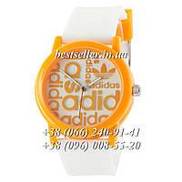 Часы Adidas Silicone 42mm White/Yellow.